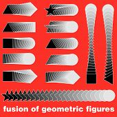 Geometric vector illustration of technical draft 3D poster