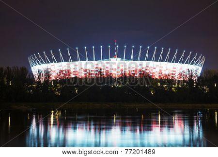 Football Stadium In Warsaw, Poland
