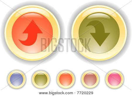 Vector Buttons With Arrow Icon