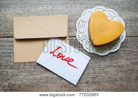 Heart Shaped Mocca Cake