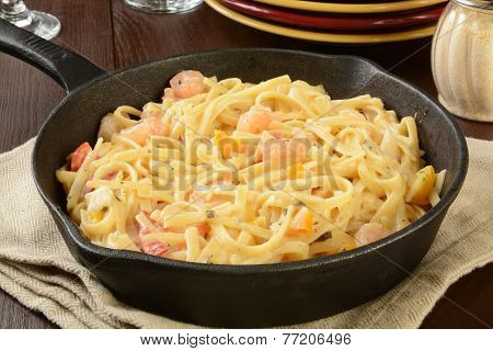 Shrimp Scampi And Linguine