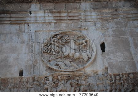 Arch of Constantine in Rome next Coliseum