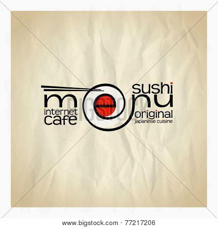 Original sushi menu card design. Eps10