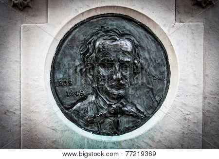 Edgar Allen Poe on Tombstone
