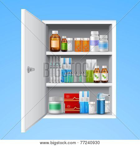 Medicine cabinet realistic
