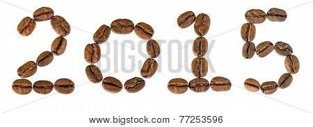 New 2015 Year From Coffee Beans.