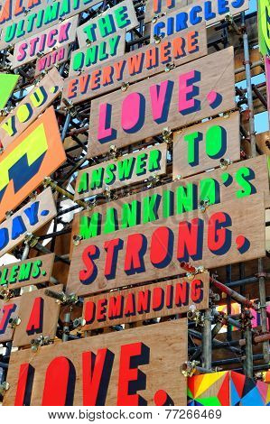 Detail from the Temple of Agape by Morag Myerscough