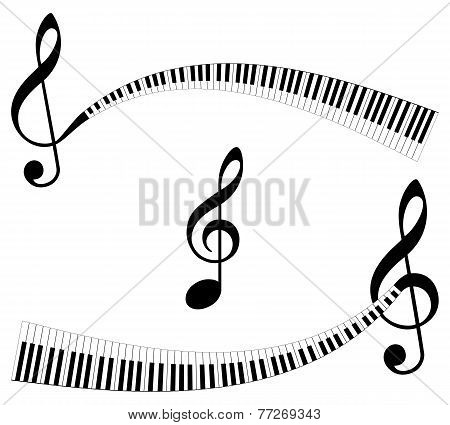 abstract music symbols