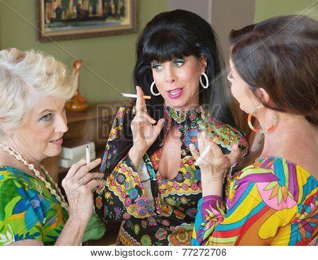 Talking And Smoking Women