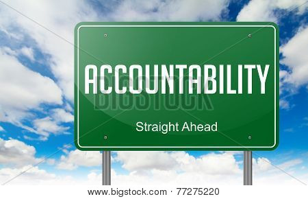 Accountability on Highway Signpost.