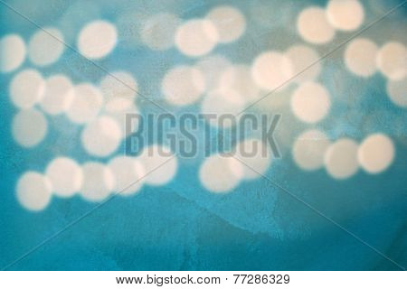 Textured Blue Background With Bluured Lights