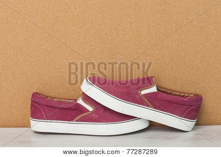 Red Slip-on Shoes