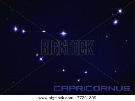 illustration of Capricornus constellation
