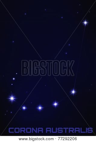 illustration of Corona Australis constellation