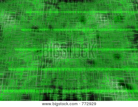 Green grid with numbers
