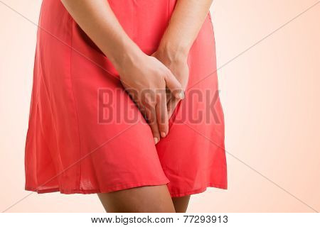Woman In Need To Urinate