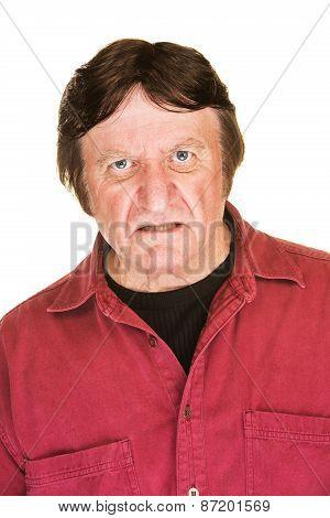 Sneering Man In Red