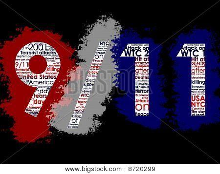 11. September, typografische illustration