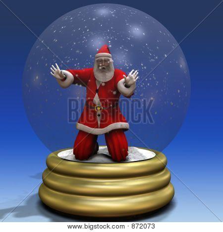 Santa Trapped in Snow Globe 3