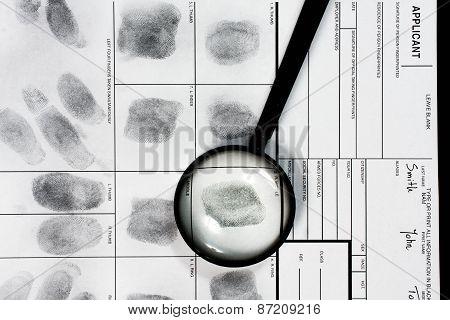 Real human fingerprint.