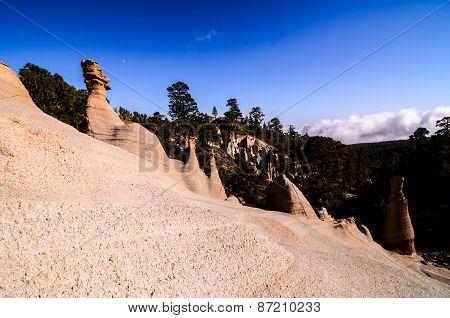 Rock Formations Paisaje Lunar