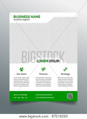 Business flyer template - simple green design