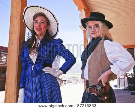 A Pair Of Old Tucson Frontier Women, Tucson, Arizona