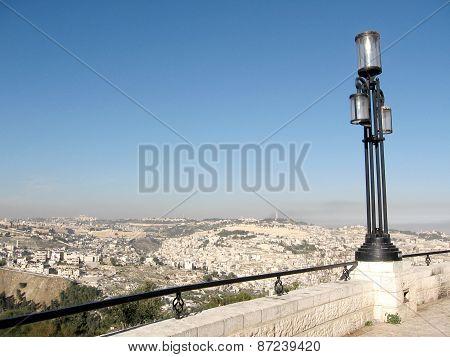 Jerusalem The Lantern On Haas Promenade 2010