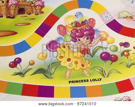 Candy Land Game Board.