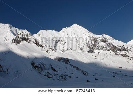 Peak of Bahara Shikhar mountain of the Annapurna Range poster