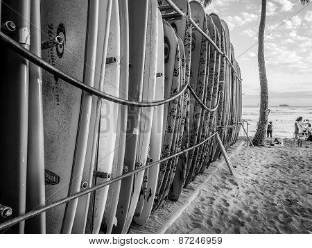 Surf boards, Waikiki