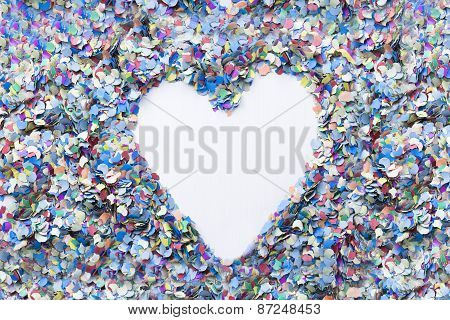 heart confetti background