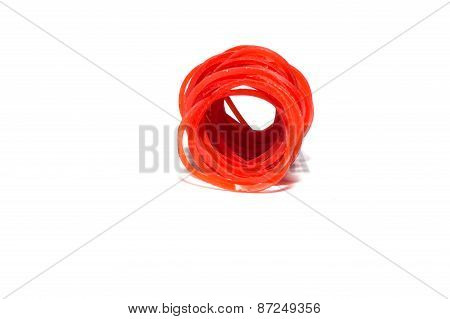 red rubber wrist band