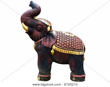Statue Elephent At Wat Chalong In Phuket Of Thailand poster