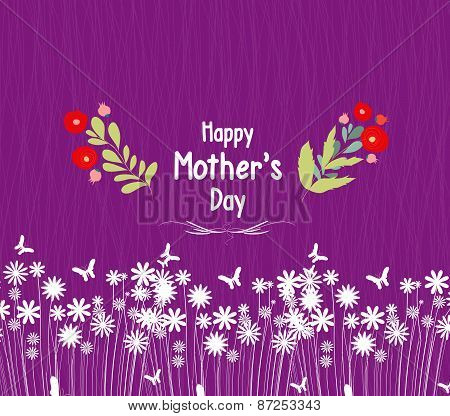 happy mother day greeting card  flowers