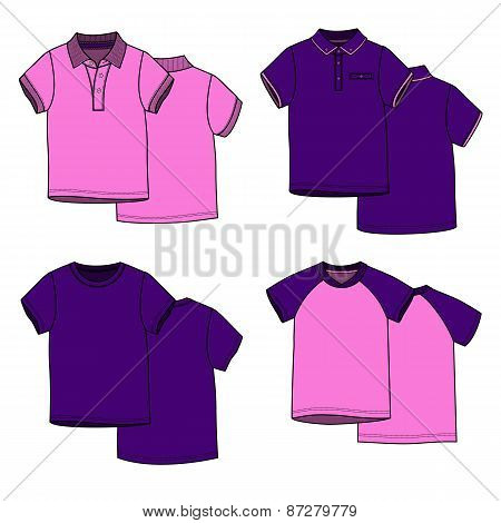 Pink and puple t-shirts