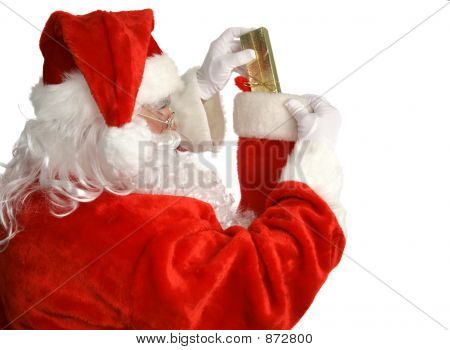 Santa Stuffs Stocking