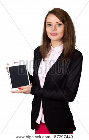 Girl Showing Tablet