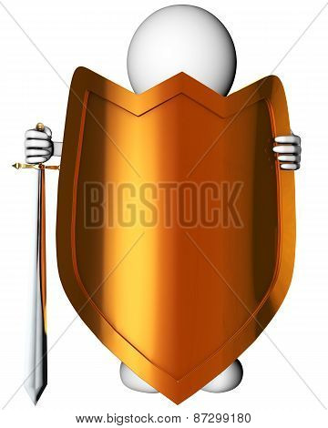 Man With Sword And Shield