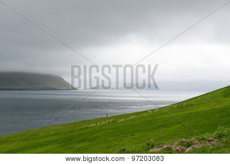 Typical Landscape On The Faroe Islands