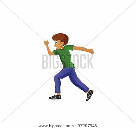 running boy illustration