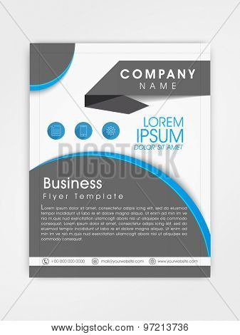 Creative professional flyer, template or brochure design for your business.