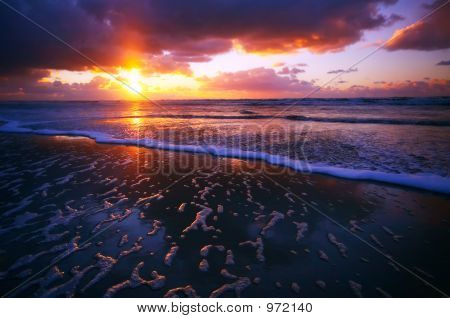 Ocean And Sunset