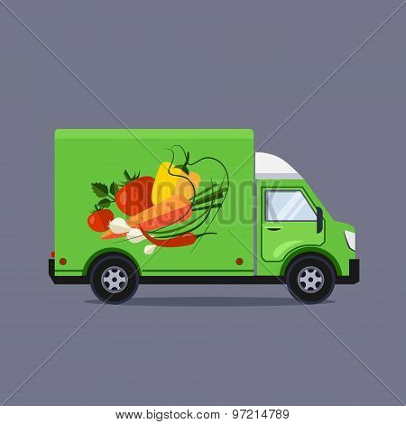 Flat style vector illustration delivery service concept
