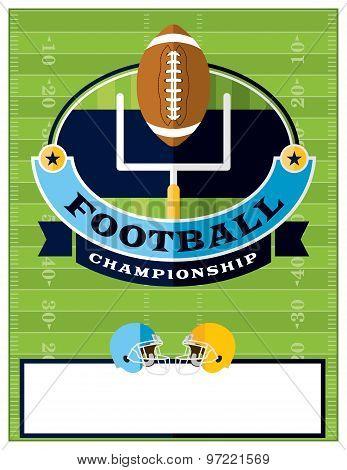 American Football Championship Flyer Illustration