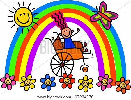 Disabled Wheelchair Girl