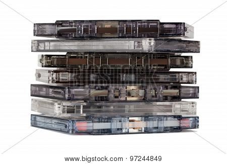 Stack Of Old Audio Cassettes
