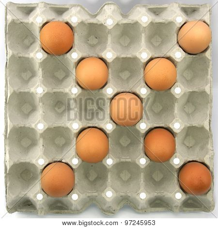Multiply Symbol Show By Eggs In Paper Tray