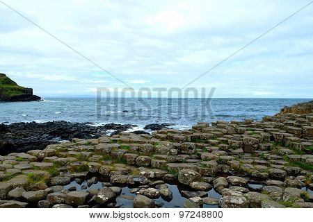 The Irish side of the Giant's Causeway