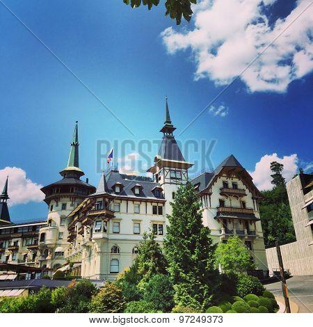 View to the Dolder Grand Hotel, Zurich, Switzerland, July 2015